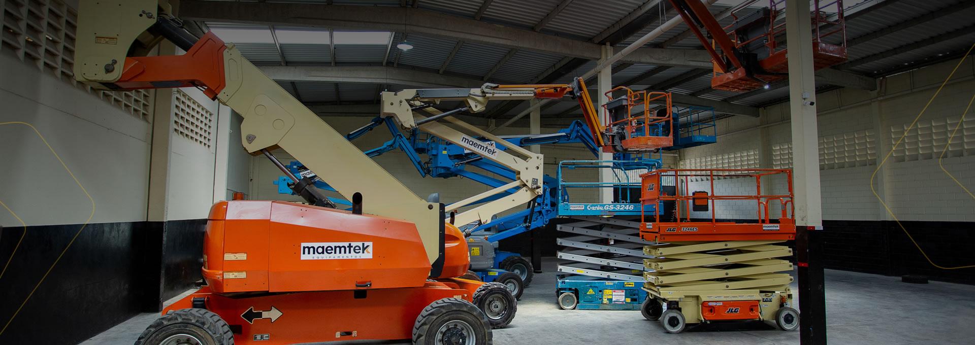 Locação de equipamentos para o tamanho da sua necessidade!